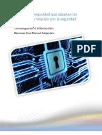 Medidas de seguridad que adoptan las empresas en relación con la seguridad informática