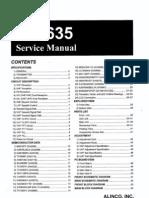 Alinco_DR635 VHF-UHF Tranciever_Service Manual