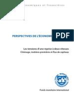 PERSPECTIVES DE L'ÉCONOMIE MONDIALE FMI