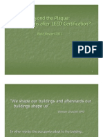 Beyond the Plaque- What Happens After LEED Certification