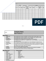Defect Tracking Log TEMPLATE