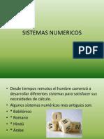 presentacion SISTEMAS NUMERICOS