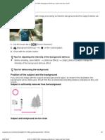 DSC-HX100_HX100V _ Background Defocus _ Cyber-Shot User Guide