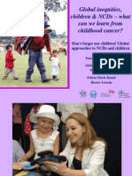 Global inequities, children & NCDs – what can we learn from childhood cancer? 140611