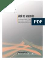 Reforma Político Electoral de Córdoba - Dictamen Comisión Consultiva de Expertos