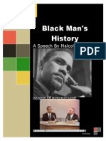 Black Man's History - Malcolm X