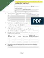 Building Profile Editable Blank