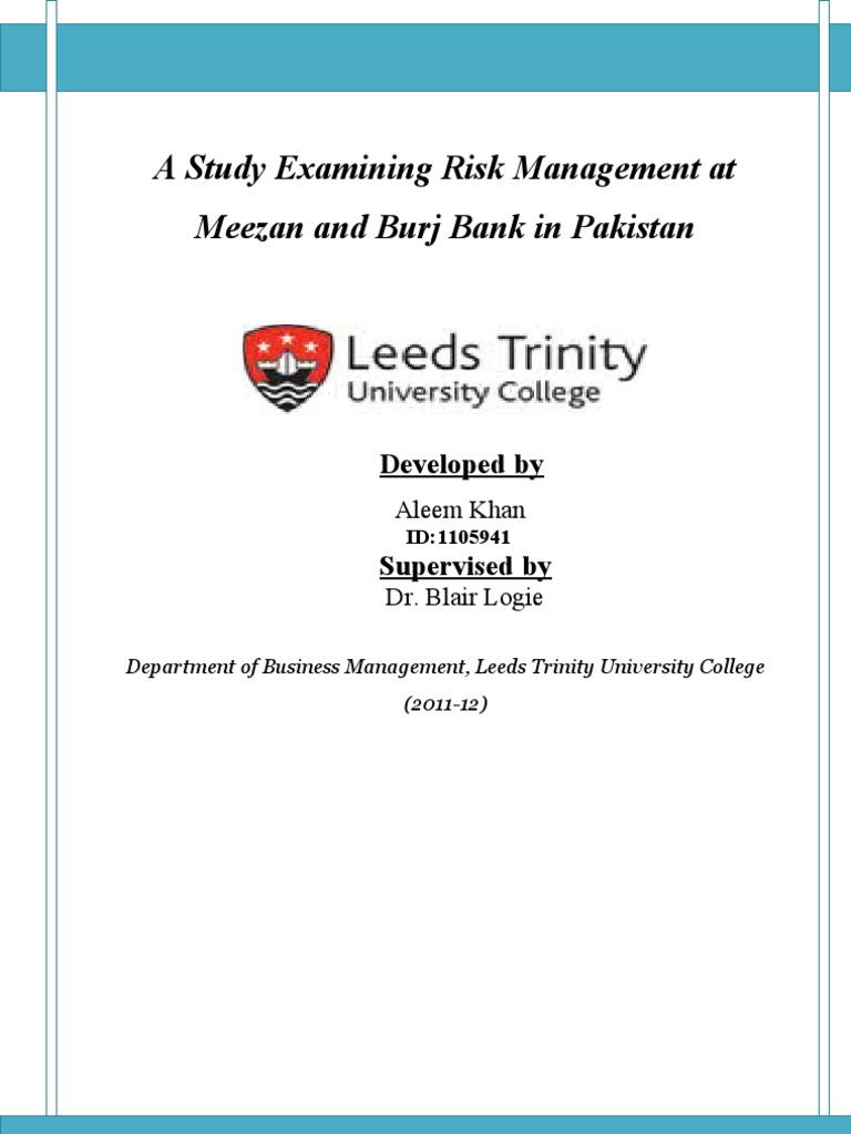 Phd thesis on credit risk management