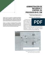 Administración de Recursos y Control de Procesos en el CIM