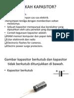 KAPASITOR & ISYARAT ELEKTRONIK