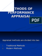 Methods of Performance Appraisal
