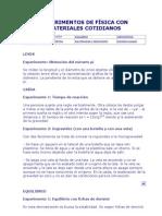 EXPERIMENTOS DE FÍSICA CON MATERIALES COTIDIANOS