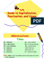 Guide to Capitalization, Punctuation, And Usage
