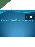 Patient Classification System