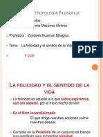 La Felicidad y Sentido de Vida Manuel Mesones Alvitres