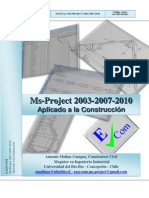 Manual Microsoft Project 2003-2007-2010 - Aplicado a la Construcción