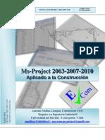 Manual Microsoft Project 2003-2007-2010 - Aplicado a la Construcción