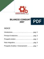 [Mente Locale] Bilancio Consuntivo 2007