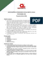 [Mente Locale] Pianificazione e Programma 2009