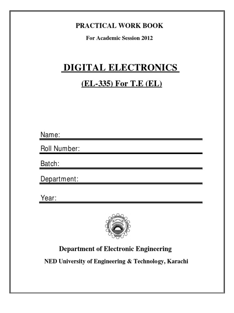 Digital Electronics lab manual | Analog To Digital Converter | Digital To  Analog Converter