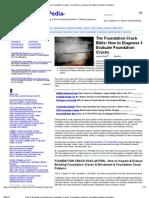 Repair Foundation Cracks