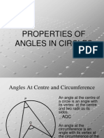 Properties of Angles in Circles
