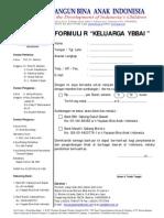 Formulir Keluarga YBBAI