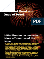 Burden of Proof and Onus of Proof