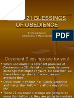 God's 21 Blessings of Obedience
