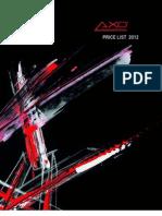 Axo Light - Public Price 2012