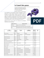 Nintendo Gamecube List