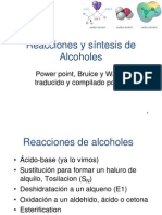 Reacciones y Sintesis de Alcoholes
