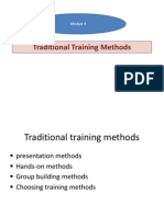 Traditional Training Methods