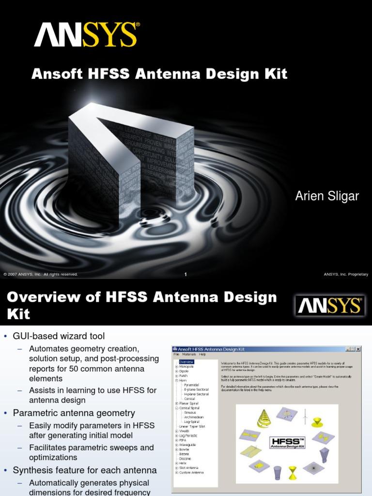 antenna design kit for hfss 15