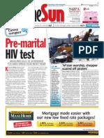 thesun 2008-12-19 page01 pre-marital hiv test