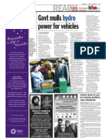 thesun 2008-12-19 page02 govt mulls hydro power for vehicles
