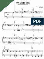 26866746 Guns n Roses November Rain Sheet Music Piano