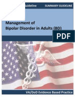 VA-DoD Summary Guidelines for Bipolar Disorder