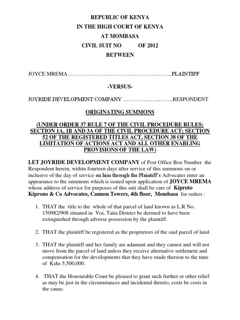 Originating summons 2 summons lawsuit thecheapjerseys Choice Image