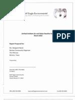 Alfredo Al Armendariz - Final Report - Rayzor Ranch Development in Denton Texas - Limited Ambient Air and Water Baseline Study - Prepared by Alisa Rich, MPH, PhD - March 2010