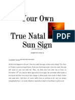 Your Own True Horoscope Astrology Zodiacal Natal Sun Sign