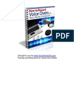 How to Record Voice Overs With Your Home Computer