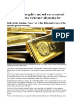 Abandoning the Gold Standard