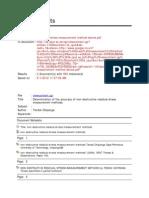 Ultrasonic Stress Measurement Method Device