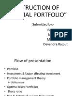 Construction of Portfolio