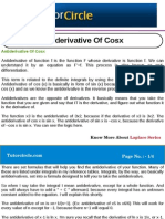 Anti Derivative of Cosx