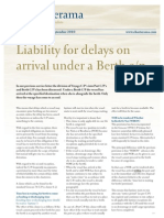 Claims Service Letter 3 Liabilities Delays on Arrvl Berth Cp