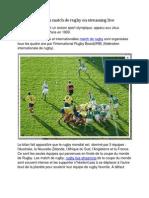 Match de rugby en streaming live