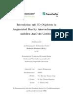 Interaktion mit 3D-Objekten in Augmented Reality Anwendungen auf mobilen Android Geräten