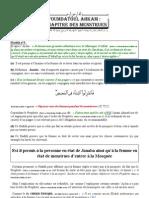 'Oumdatoul Ahkam -  Chapitre des menstrues 3